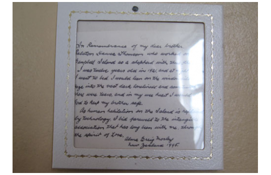Handwritten Note By Alma Mosley